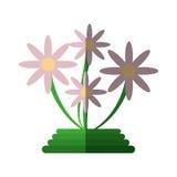 Icona verde della decorazione dei fiori di canestro Fotografie Stock