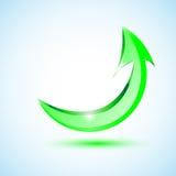 Icona verde della freccia Fotografie Stock Libere da Diritti