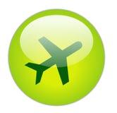 Icona verde vetrosa di corsa Fotografia Stock
