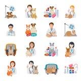 Icona veterinaria piana illustrazione di stock