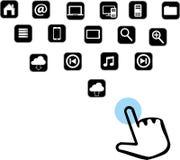 Icona, web, icone, sito Web Fotografia Stock Libera da Diritti