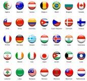 Icone 01 della bandierina del mondo Fotografie Stock