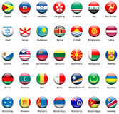 Icone 05 della bandierina del mondo fotografie stock libere da diritti
