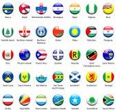 Icone 06 della bandierina del mondo Fotografia Stock Libera da Diritti