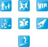 Icone 1 immagini stock
