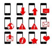 Icone 1 del telefono illustrazione di stock
