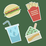 Icone 1 dell'alimento Fotografia Stock Libera da Diritti