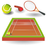 Icone 1 di tennis Immagine Stock