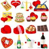Icone 2 di amore Immagine Stock