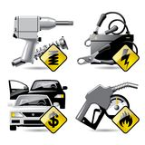 Icone 2 di servizio dell'automobile Fotografia Stock Libera da Diritti