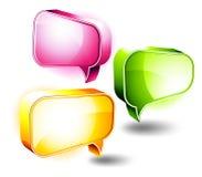 icone 3D: Caselle di chiacchierata Immagini Stock