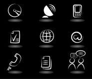 Icone 4 di comunicazione Fotografia Stock