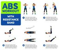 Icone aerobiche Allenamento dell'ABS Fotografie Stock Libere da Diritti