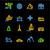 Icone al neon di corsa Fotografie Stock