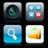 Icone alto-dettagliate quadrate di app. Fotografie Stock Libere da Diritti
