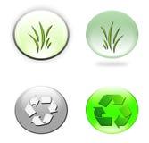 Icone ambientali immagini stock
