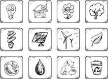 Icone ambientali Immagine Stock
