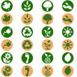 Icone ambientali illustrazione vettoriale
