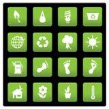 Icone ambientali Fotografie Stock Libere da Diritti