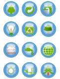 Icone ambientali di conservazione Fotografia Stock Libera da Diritti