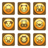 Icone animali Fotografie Stock