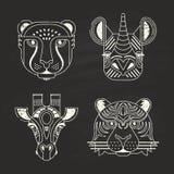 Icone animali illustrazione di stock
