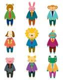 Icone animali di impiegato del fumetto Immagine Stock Libera da Diritti