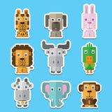 Icone animali di vettore Immagine Stock