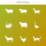 Icone animali impostate Fotografia Stock Libera da Diritti