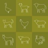 Icone animali impostate Fotografia Stock