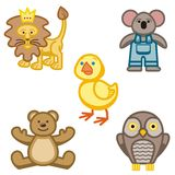 Icone animali sveglie Immagini Stock