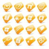 Icone arancioni 1 del Internet e di Web site Fotografia Stock Libera da Diritti