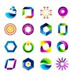 Icone astratte basate sulla lettera O Fotografia Stock