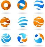 Icone astratte del globo Fotografie Stock