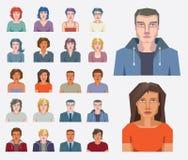 Icone astratte della gente Immagini Stock Libere da Diritti