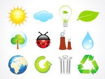 Icone astratte di eco Fotografia Stock
