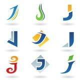 Icone astratte per la lettera J Fotografia Stock Libera da Diritti
