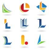 Icone astratte per la lettera L Immagine Stock