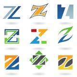 Icone astratte per la lettera Z Immagine Stock Libera da Diritti