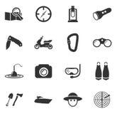 Icone attive di ricreazione Immagine Stock Libera da Diritti