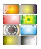 Icone, autoadesivi di Web illustrazione di stock