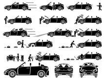 Icone automatiche Immagini Stock Libere da Diritti