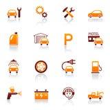 Icone automatiche di riparazione & di servizio Fotografia Stock Libera da Diritti
