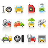 Icone automatiche di servizio Fotografia Stock