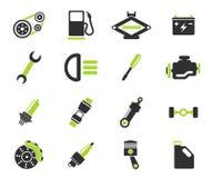Icone automatiche di servizio Fotografie Stock Libere da Diritti