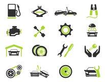 Icone automatiche di servizio Immagini Stock