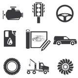 Icone automobilistiche Fotografia Stock