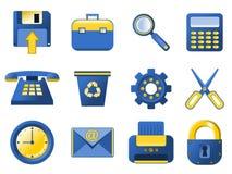 Icone - azzurro e colore giallo royalty illustrazione gratis