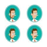 icone barba mustache royalty illustrazione gratis