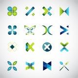 Icone basate sulla lettera X Fotografie Stock Libere da Diritti